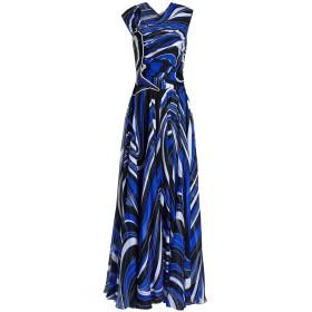 《セール開催中》EMILIO PUCCI レディース ロングワンピース&ドレス ブルー 38 シルク 100% / ナイロン