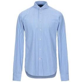 《期間限定セール開催中!》SCALPERS メンズ シャツ アジュールブルー 39 コットン 100%