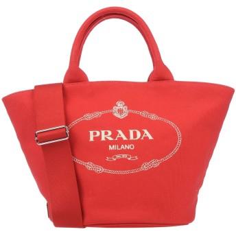 《9/20まで! 限定セール開催中》PRADA レディース ハンドバッグ レッド 指定外繊維(ヘンプ)