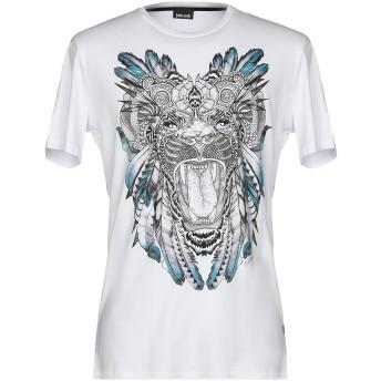 《9/20まで! 限定セール開催中》JUST CAVALLI メンズ T シャツ ホワイト XXL コットン 100%