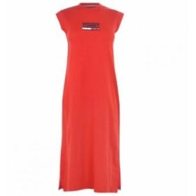 トミー ジーンズ Tommy Jeans レディース ワンピース ワンピース・ドレス Logo Tank Top Dress Flame Scarlet