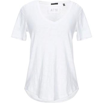 《セール開催中》ATM ANTHONY THOMAS MELILLO レディース T シャツ ホワイト S コットン 100%