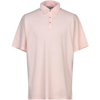 《セール開催中》FEDELI メンズ ポロシャツ ライトピンク 56 コットン 100%