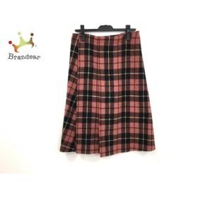 ワイズ Y's スカート サイズ3 L レディース レッド×黒×イエロー チェック柄  値下げ 20191106