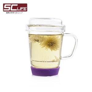 SC life 三件式玻璃泡茶杯(紫色)