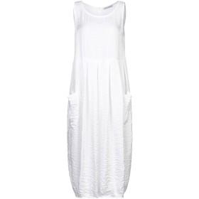 《9/20まで! 限定セール開催中》PAOLO CASALINI レディース 7分丈ワンピース・ドレス ホワイト S コットン 55% / ポリエステル 41% / ナイロン 4%