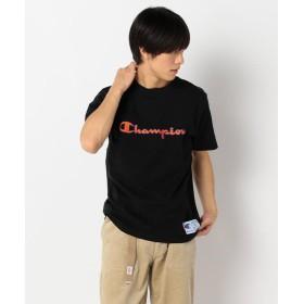 フレディアンドグロスター ロゴ刺しゅうTシャツ メンズ ブラック M 【FREDY & GLOSTER】