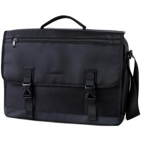 メッセンジャーバッグ メンズ,VONXURY 通勤 通学 ショルダーバッグ 大容量 ビジネスバッグ a4 斜めがけバッグ ブリーフケース ブラック Sサイズ
