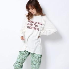 エックスガール X-girl X-girl x YURINO CHECKLIST L/S BIG TEE (WHITE)
