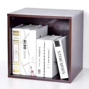 自由組合式收納置物櫃-方形格(棕色)