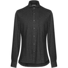 《セール開催中》ORIAN メンズ シャツ グレー 40 コットン 100%