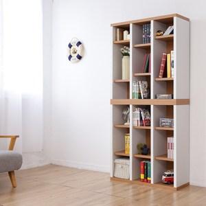 兩入一組《Accessco》日系雙色九格厚板收納書櫃(原木白)