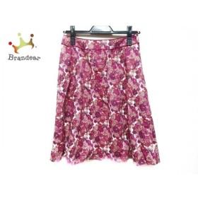 アマカ AMACA スカート サイズ36 S レディース ピンク×レッド×アイボリー 花柄 新着 20190828