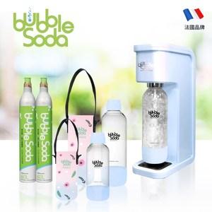 法國BubbleSoda 全自動氣泡水機-花漾藍超值組合