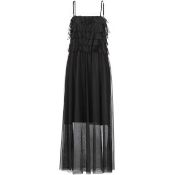 《セール開催中》BERNA レディース ロングワンピース&ドレス ブラック M ポリエステル 100% / レーヨン / ポリウレタン