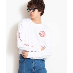 WEGO WEGO/ニーハオプリントロンT(レッド)【返品不可商品】