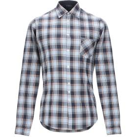 《セール開催中》SANS FIXE DIMORE by AGLINI メンズ シャツ ダークブルー 38 コットン 100%