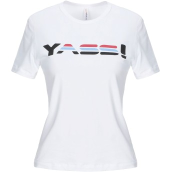 《セール開催中》ADAM SELMAN SPORT レディース T シャツ ホワイト XS コットン 93% / ポリウレタン 7%