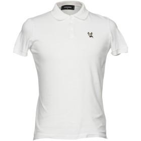 《期間限定セール開催中!》DSQUARED2 メンズ ポロシャツ ホワイト S コットン 100%