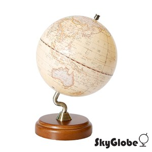 SkyGlobe 10吋仿古木質底座立體地球儀