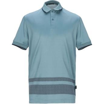《9/20まで! 限定セール開催中》PAL ZILERI メンズ ポロシャツ ブルーグレー L コットン 100%
