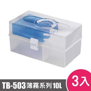 樹德SHUTER薄霧系列手提箱503型TB-503 3入藍色