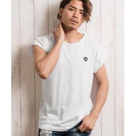 シルバーバレット CavariAクルーネックロングフレンチスリーブシャツ メンズ ホワイト系1 46(L) 【SILVER BULLET】
