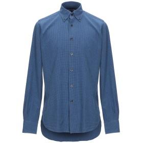 《期間限定セール開催中!》ORIAN メンズ シャツ ブルー 40 コットン 100%