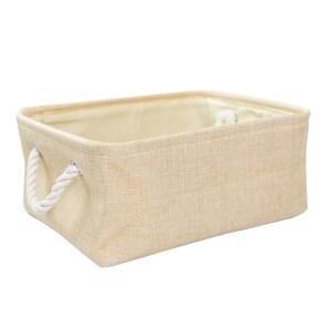 布質手提收納袋-米黃(中)