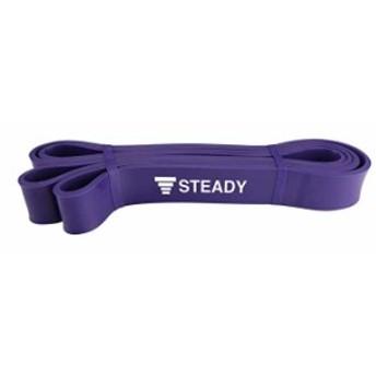 【1位獲得】トレーニングチューブ 紫(強度:ハード) 日本語トレーニング動画付 [メーカー1年保証] STEADY(ステディ) ST110 ゴムバンド