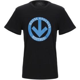 《期間限定セール開催中!》MOOSE KNUCKLES メンズ T シャツ ブルー S コットン 100%