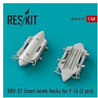 1/48 F-16用BRU-57 爆弾ラック (2個入り)[RES/KIT]《在庫切れ》