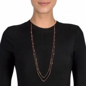 フォリフォリ Folli Follie レディース ネックレス ジュエリー・アクセサリー Fashionably Silver Essentials Rose Gold Necklace Rose G