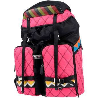 《期間限定セール開催中!》PRADA メンズ バックパック&ヒップバッグ ブラック 紡績繊維 / 革