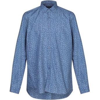 《セール開催中》LIZA メンズ シャツ パステルブルー 16 コットン 100%