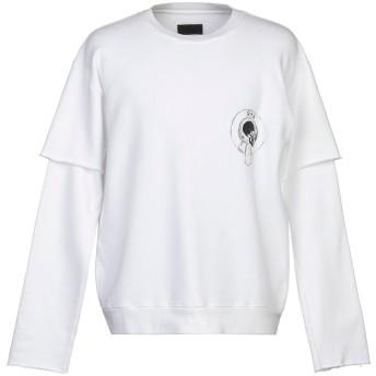 《9/20まで! 限定セール開催中》RTA メンズ スウェットシャツ ホワイト S コットン 100%