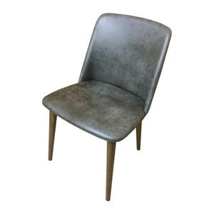 【YFS】Cora仿古皮面實木餐椅-47.5x44.5x84cm