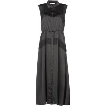 《セール開催中》PAOLO CASALINI レディース 7分丈ワンピース・ドレス ブラック XS ポリエステル 100%