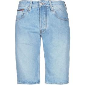 《期間限定セール開催中!》TOMMY JEANS メンズ デニムバミューダパンツ ブルー 31 コットン 100%