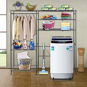 巴塞隆納─三層層板伸縮洗衣機馬桶置物架V型設計強化結構 (附60公分層