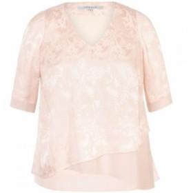チェスカ Chesca レディース チュニック トップス Palm Leaf Jacquard Layered Tunic Blush