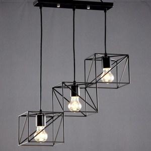HONEY COMB 工業風線條三吊燈 TA4381D
