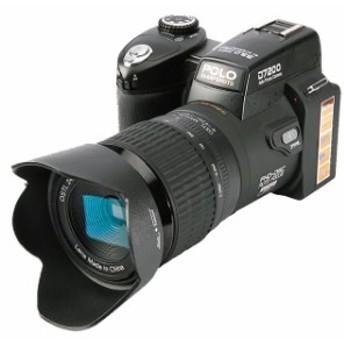デジタル一眼レフカメラ D7200 13MP 24X テレフォトレンズ&8Xデジタルズーム広角レンズ LEDスポットライト