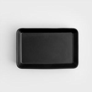 WAGA 北歐風 啞光磨砂21cm長方焗盤純黑