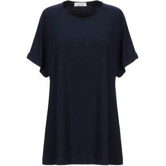 《セール開催中》LE TRICOT PERUGIA レディース T シャツ ダークブルー XS レーヨン 96% / ポリウレタン 4%