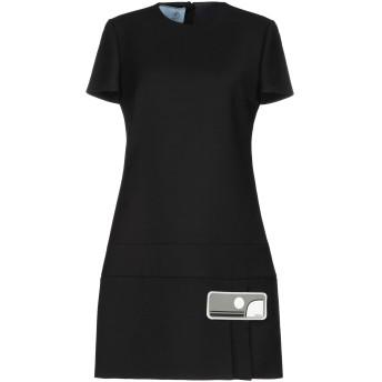 《セール開催中》PRADA レディース ミニワンピース&ドレス ブラック 38 バージンウール 100%