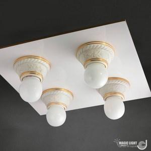 【光的魔法師Magic Light】美術型輕鋼架燈具 玫瑰花輕鋼架四燈