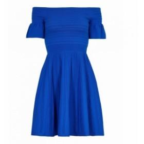 テッドベーカー Ted Baker レディース ワンピース ワンピース・ドレス Criptum Bardot Frill Knitted Skater Dress Blue