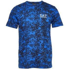 《期間限定セール開催中!》EA7 メンズ T シャツ アジュールブルー 3XL コットン 100%