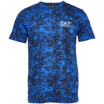 《9/20まで! 限定セール開催中》EA7 メンズ T シャツ アジュールブルー 3XL コットン 100%